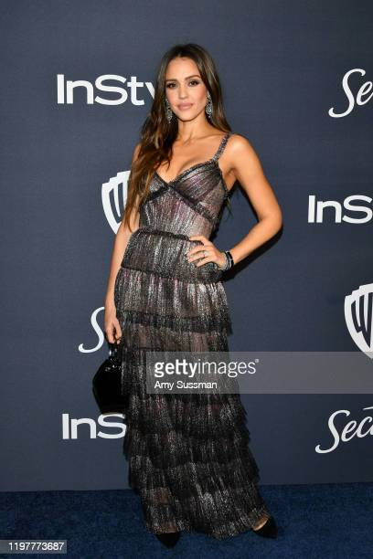 Jessica Alba attends the 21st Annual Warner Bros. And InStyle Golden Globe After Party at The Beverly Hilton Hotel on January 05, 2020 in Beverly...