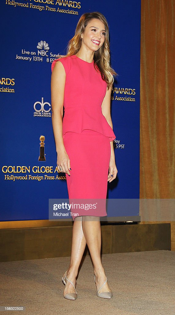 Jessica Alba attends the 70th Annual Golden Globe Awards nominations announcement held at The Beverly Hilton on December 13, 2012 in Los Angeles, California.