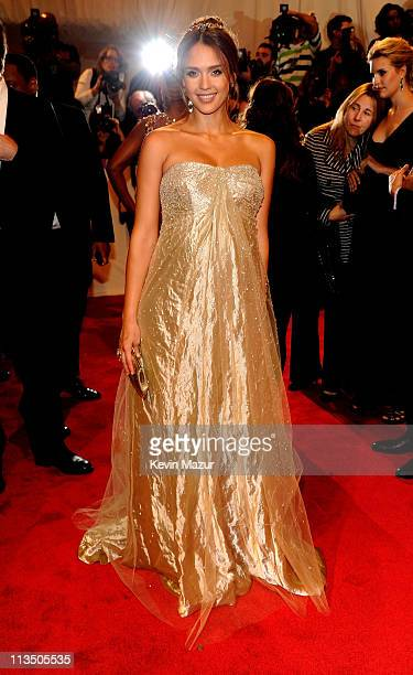 """Jessica Alba attends the """"Alexander McQueen: Savage Beauty"""" Costume Institute Gala at The Metropolitan Museum of Art on May 2, 2011 in New York City."""