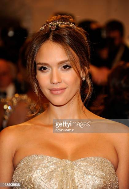 Jessica Alba attends the Alexander McQueen Savage Beauty Costume Institute Gala at The Metropolitan Museum of Art on May 2 2011 in New York City