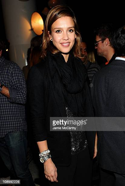 Jessica Alba attends the Best New Menswear Designers in America Fall 2011 Collections presented by GQ and CFDA at the Ace Hotel on February 10 2011...