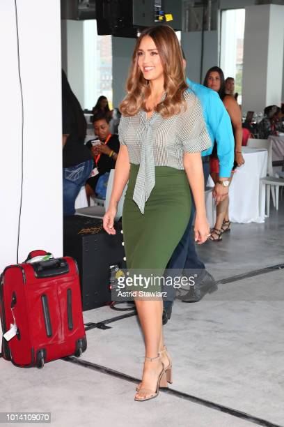 Jessica Alba attends the #BlogHer18 Creators Summit at Pier 17 on August 9, 2018 in New York City.