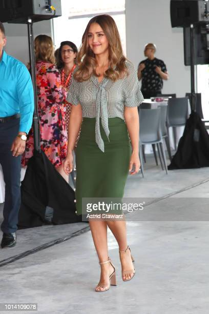 Jessica Alba attends the #BlogHer18 Creators Summit at Pier 17 on August 9 2018 in New York City