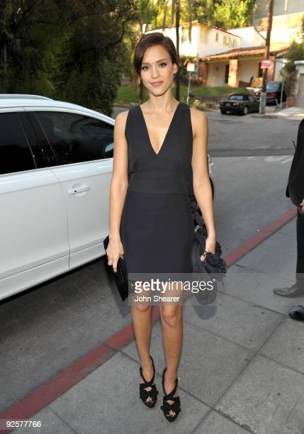 LOS ANGELES CA OCTOBER 30 Jessica Alba attends the CFDA/Vogue Fashion Fund Event at Chateau Marmont on October 30 2009 in West Hollywood California