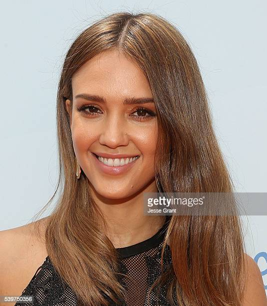 Jessica Alba attends the Children Mending Hearts and Vintage Grocers Presents the 8th Annual Empathy Rocks event on June 12 2016 in Beverly Hills...