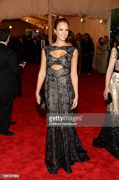 Jessica Alba attends the Costume Institute Gala for the 'PUNK Chaos to Couture' exhibition at the Metropolitan Museum of Art on May 6 2013 in New...