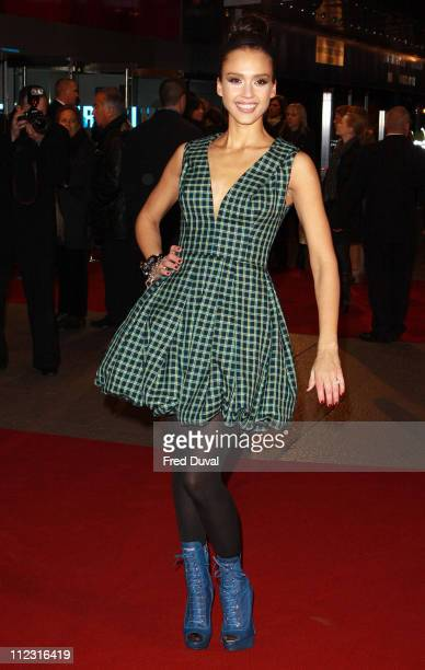 Jessica Alba attends the European Premiere of 'Valentine's Day' at Odeon Leicester Square on February 11, 2010 in London, England.