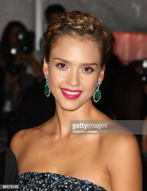 Jessica Alba attends 'The Model as Muse Embodying Fashion' Costume Institute Gala at The Metropolitan Museum of Art on May 4 2009 in New York City