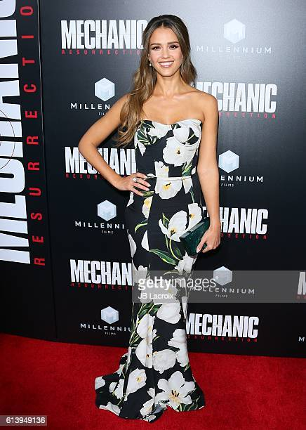 Jessica Alba attends the premiere of Summit Entertainment's 'Mechanic Resurrection' on August 22 2016 in Hollywood California