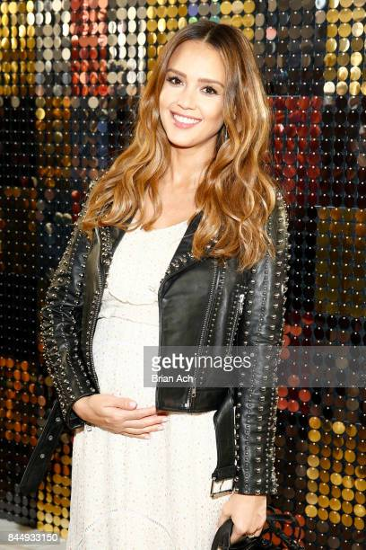 Jessica Alba attends the Rebecca Minkoff fashion show during New York Fashion Week on September 9 2017 in New York City