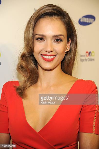 Jessica Alba attends the Samsung Hope For Children Gala 2014 at Cipriani Wall Street on June 10 2014 in New York City
