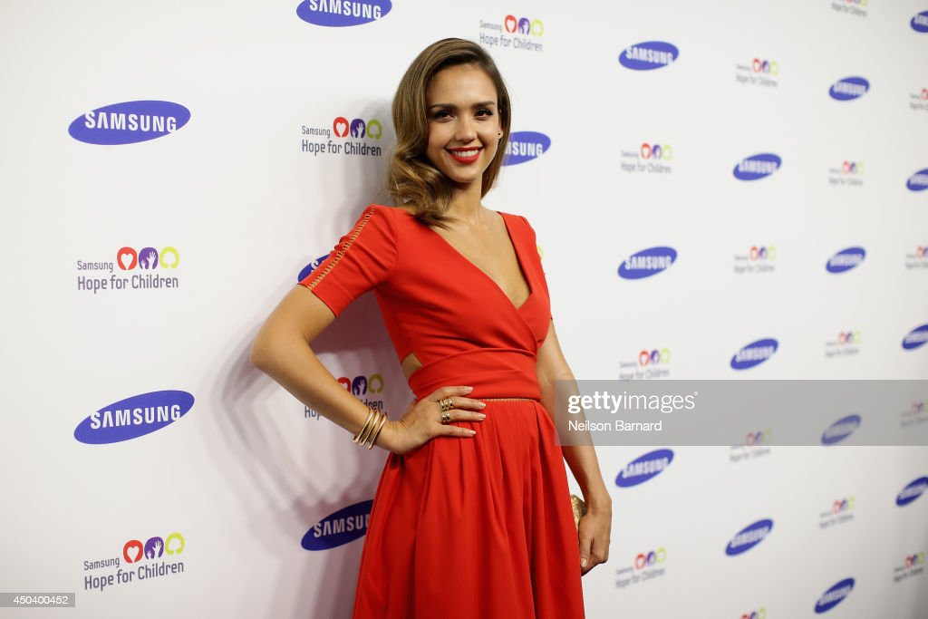Jessica Alba attends the Samsung Hope For Children Gala 2014 on June 10, 2014 in New York City.