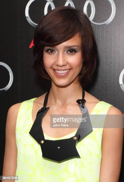Jessica Alba attends the Superbowl XLIV with Audi at the W Hotel - South Beach on February 5, 2010 in Miami Beach, Florida.