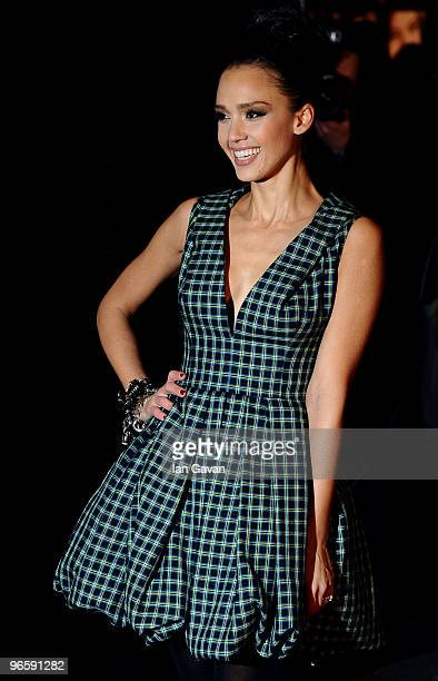 Jessica Alba attends the UK Premiere of 'Valentine's Day' at the Odeon Leicester Square on February 11 2010 in London England