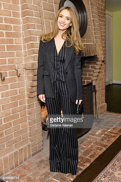 Jessica Alba attends The Zoe Report's Box of Style Winter Edition Dinner at Chateau Marmont on November 30 2016 in Los Angeles California