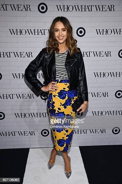 Jessica Alba attends Who What Wear x Target launch party at ArtBeam on January 27 2016 in New York City