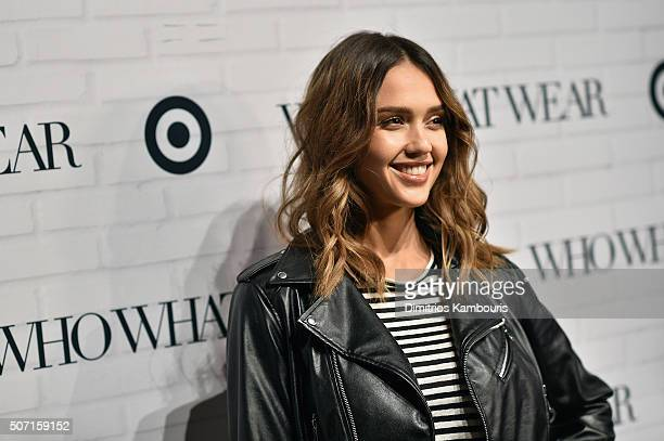 b559a46fe1 Jessica Alba attends Who What Wear x Target launch party at ArtBeam on January  27 2016