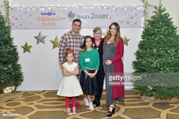 Jessica Alba Cash Warren and family attend The Baby2Baby Holiday Party presented by ToysRUs at Montage Beverly Hills at Montage Beverly Hills on...