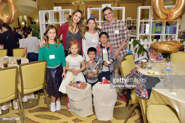 Jessica Alba Cash Warren and guests attend The Baby2Baby Holiday Party Presented By ToysRUs At Montage Beverly Hills at Montage Beverly Hills on...