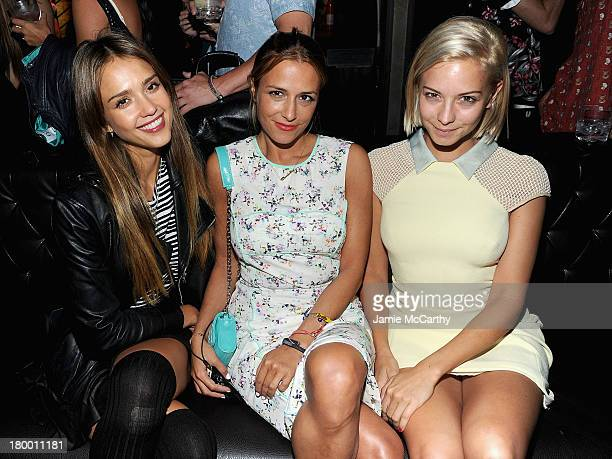 Jessica Alba Charlotte Ronson and Annabelle Dexter Jones attend the Charlotte Ronson Spring/Summer 2014 After Party at Marquee on September 7 2013 in...