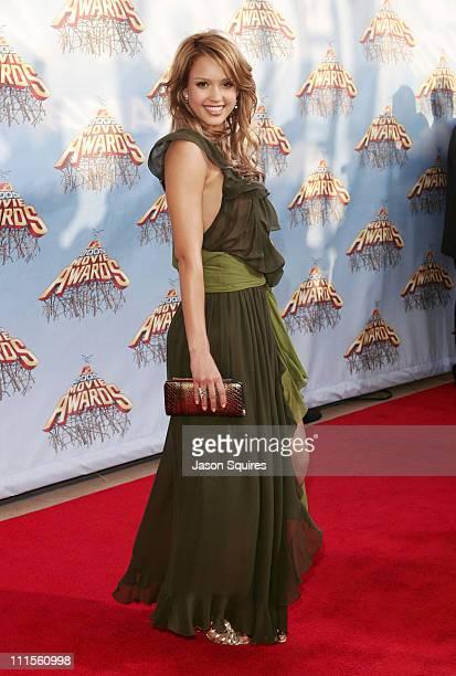 Jessica Alba during 2005 MTV Movie Awards Arrivals at Shrine Auditorium in Los Angeles California United States