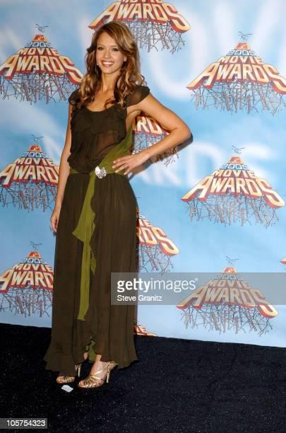 Jessica Alba during 2005 MTV Movie Awards Press Room at Shrine Auditorium in Los Angeles California United States