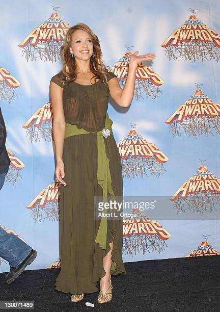 Jessica Alba during 2005 MTV Movie Awards Press Room at Shrine Auditorium in Los Angeles California United States