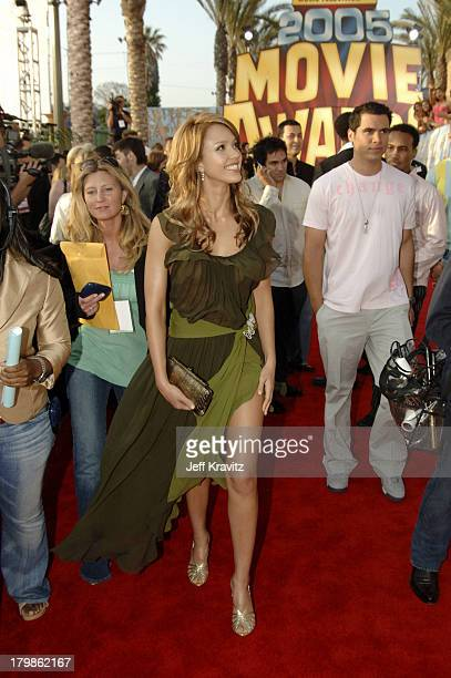 Jessica Alba during 2005 MTV Movie Awards Red Carpet at Shrine Auditorium in Los Angeles California United States