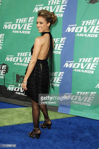 Jessica Alba during 2006 MTV Movie Awards Arrivals at Sony Pictures in Culver City California United States