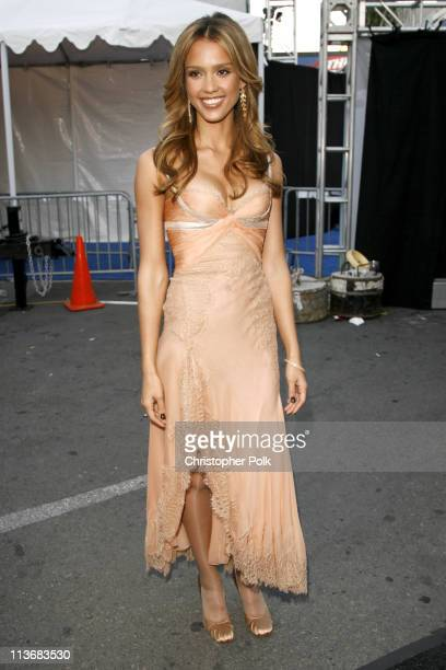 Jessica Alba during 2006 MTV Movie Awards Backstage and Audience at Sony Studios in Culver City California United States