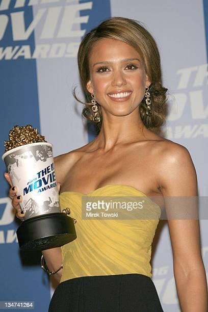 Jessica Alba during 2006 MTV Movie Awards Press Room at Sony Studios Culver City in Culver City California United States