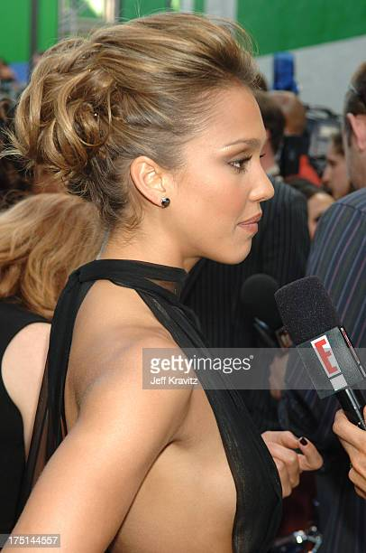 Jessica Alba during 2006 MTV Movie Awards Red Carpet at Sony Studios in Culver City California United States