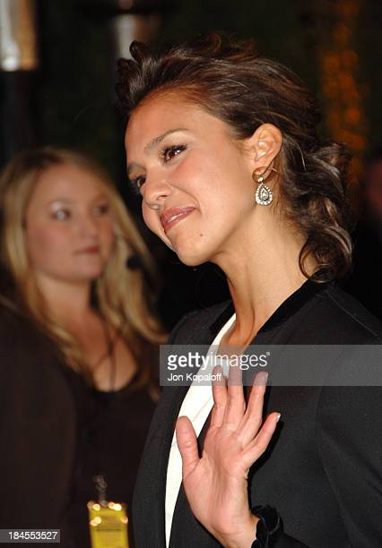 Jessica Alba during 2006 Vanity Fair Oscar Party at Morton's in West Hollywood California United States