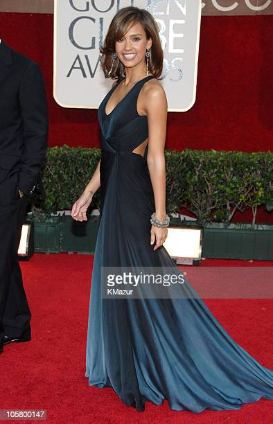 Jessica Alba during 63rd Annual Golden Globes Red Carpet at Beverly Hilton in Beverly Hills California United States