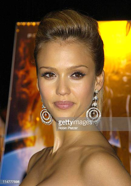 Jessica Alba during 'Fantastic Four' New York City Premiere Arrivals at Liberty Island in New York City New York United States
