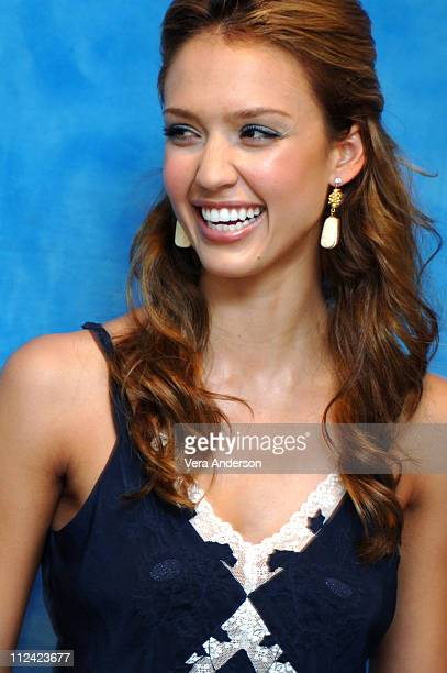 Jessica Alba during Fantastic Four Press Conference with Jessica Alba Chris Evans Ioan Gruffudd Michael Chiklis and Julian McMahon at The Essex House...