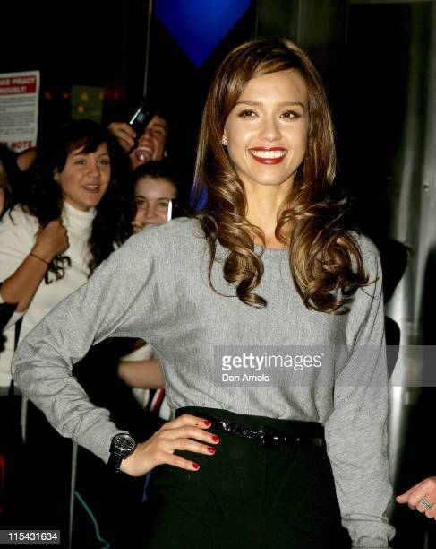 """Jessica Alba during """"Fantastic Four: Rise of the Silver Surfer"""" - Media Call - May 2, 2007 at Fox Studios in Sydney, NSW, Australia."""