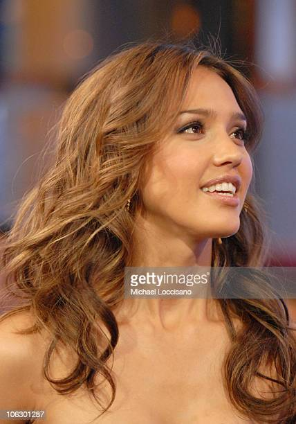 Jessica Alba during Jessica Alba and Michael Chiklis Visit MTV's 'TRL' June 6 2007 at MTV Studios Times Square in New York City New York United States