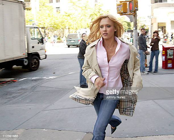 "Jessica Alba during Jessica Alba on Location for ""Fantastic Four"" - May 13, 2005 at 22nd & Broadway in New York City, New York, United States."
