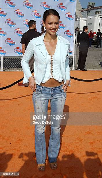 Jessica Alba during Nickelodeon's 15th Annual Kids Choice Awards - Arrivals at Barker Hanger in Santa Monica, California, United States.