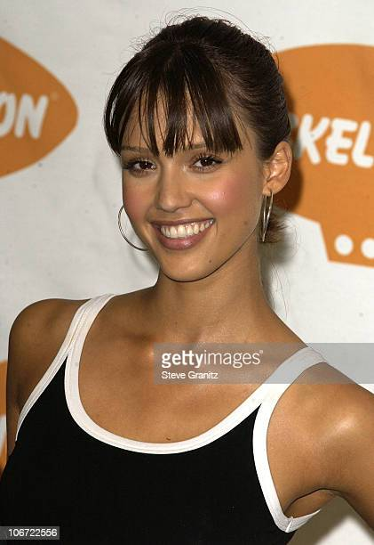 Jessica Alba during Nickelodeon's 16th Annual Kids' Choice Awards 2003 Press Room at Barker Hanger in Santa Monica California United States