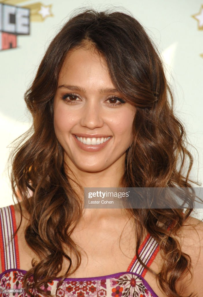 Jessica Alba during Nickelodeon's 20th Annual Kids' Choice Awards - Arrivals at Pauley Pavilion in Westwood, California, United States.