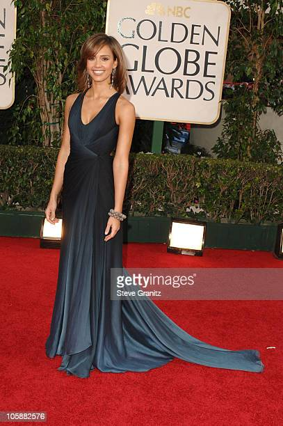 Jessica Alba during The 63rd Annual Golden Globe Awards Arrivals at Beverly Hilton Hotel in Beverly Hills California United States