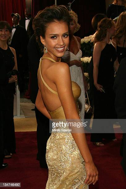 Jessica Alba during The 78th Annual Academy Awards Arrivals at Kodak Theatre in Hollywood California United States