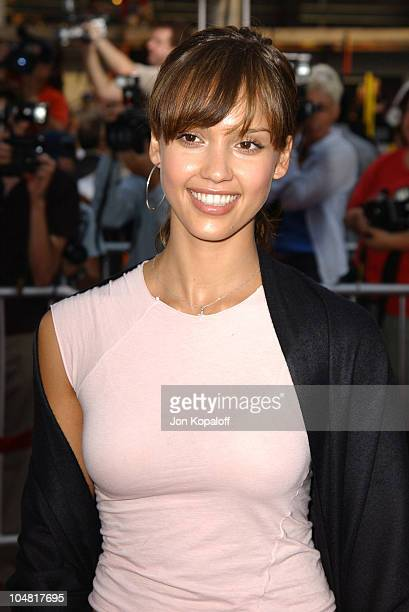 Jessica Alba during The Italian Job Premiere Red Carpet Arrivals at Mann's Chinese Theater in Hollywood California United States