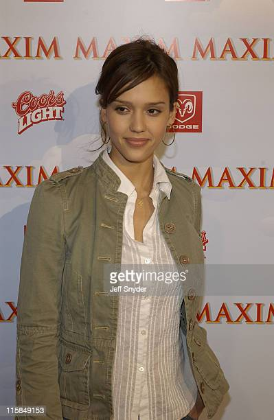 Jessica Alba during The Maxim Party at Super Bowl XXXVII at The Old Wonderbread Factory in San Diego CA