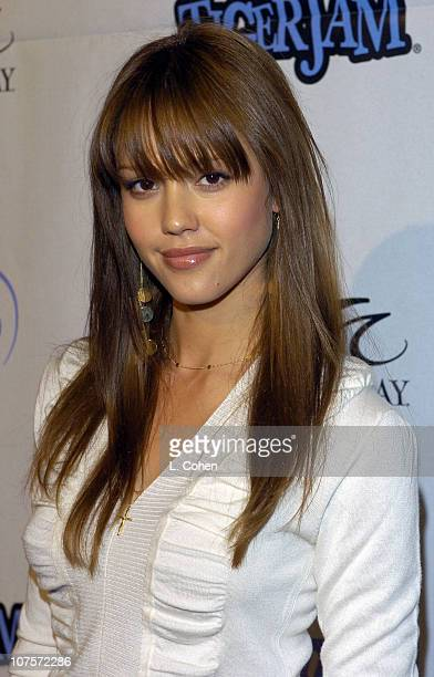 Jessica Alba during Tiger Jam VII Red Carpet Arrivals at Mandalay Bay Events Center in Las Vegas Nevada