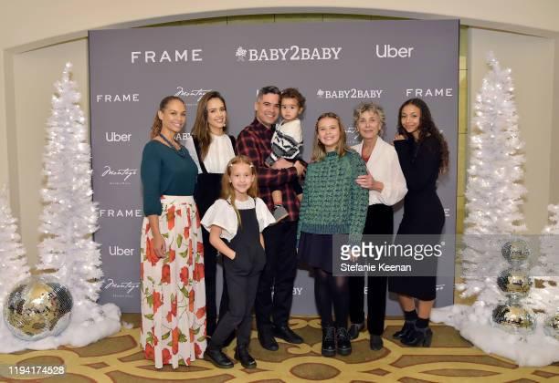 Jessica Alba, Haven Garner Warren, Cash Warren, Hayes Alba Warren, Honor Marie Warren and family attend The Baby2Baby Holiday Party Presented By...