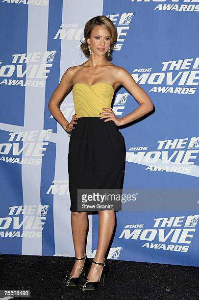 "Jessica Alba, host and winner of Sexiest Performance for ""Sin City"" at the Sony Pictures in Culver City, California"