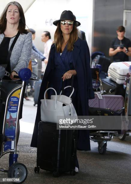 Jessica Alba is seen at LAX on June 14 2018 in New York City